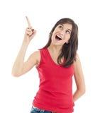 υπόδειξη κοριτσιών εφηβική στοκ εικόνες με δικαίωμα ελεύθερης χρήσης