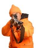 υπόδειξη κυνηγών πυροβόλ&ome Στοκ Εικόνα