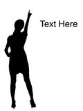 υπόδειξη της μόνιμης γυναί&kap απεικόνιση αποθεμάτων