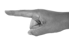 Υπόδειξη του χεριού Στοκ εικόνα με δικαίωμα ελεύθερης χρήσης