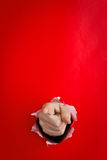 υπόδειξη τρυπών χεριών Στοκ εικόνα με δικαίωμα ελεύθερης χρήσης