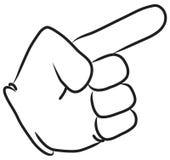 υπόδειξη χεριών κινούμενω&n Στοκ Φωτογραφία