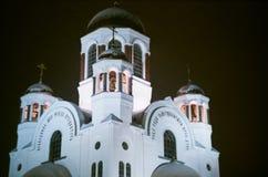 υπόθεσης καθεδρικών ναών πόλης παρθένος δυτικός της Ρωσίας Σιβηρία εκκλησιών kogalym ορθόδοξος Στοκ φωτογραφία με δικαίωμα ελεύθερης χρήσης