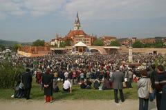 Υπόθεση βασιλικών της Virgin Mary, Marija Bistrica, Κροατία στοκ φωτογραφίες