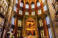 Υπόθεση Mary Titian που χρωματίζει τη Σάντα Μαρία Gloriosa de Frari CH Στοκ Εικόνες