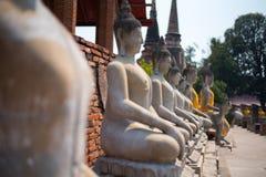 Υπόλοιπος κόσμος του Βούδα στην εκλεκτική εστίαση Στοκ Εικόνες