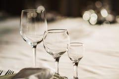 Υπόλοιπος κόσμος των γυαλιών κρασιού Στοκ Εικόνες