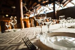 Υπόλοιπος κόσμος των γυαλιών κρασιού Στοκ Φωτογραφίες