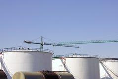 Υπόλοιπος κόσμος των δεξαμενών αποθήκευσης πετρελαίου Στοκ εικόνα με δικαίωμα ελεύθερης χρήσης