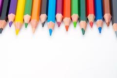 Υπόλοιπος κόσμος των μολυβιών στο άσπρο υπόβαθρο στοκ φωτογραφία με δικαίωμα ελεύθερης χρήσης