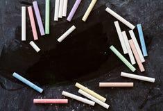 Υπόλοιπος κόσμος των πολύχρωμων κιμωλιών Στοκ Εικόνες