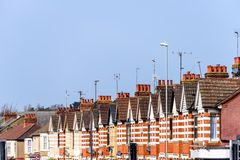 Υπόλοιπος κόσμος των σπιτιών στο Νόρθαμπτον UK χαρακτηριστικά αγγλικά σπίτια στοκ εικόνες με δικαίωμα ελεύθερης χρήσης