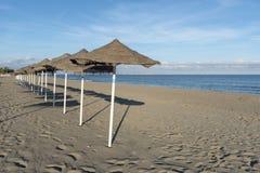 Υπόλοιπος κόσμος των parasols Torremolinos στοκ εικόνα με δικαίωμα ελεύθερης χρήσης