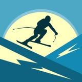 Υπόλοιπο και ένας υγιής τρόπος ζωής στα θέρετρα βουνών Χιόνι και ήλιος ελεύθερη απεικόνιση δικαιώματος