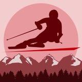 Υπόλοιπο και ένας υγιής τρόπος ζωής στα θέρετρα βουνών Χιόνι και ήλιος απεικόνιση αποθεμάτων