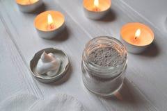 Υπόλοιπο στη SPA Προσοχή ομορφιάς Χρόνος χαλάρωσης για το youself Aromatherapy Στοκ φωτογραφία με δικαίωμα ελεύθερης χρήσης