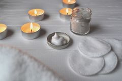 Υπόλοιπο στη SPA Προσοχή ομορφιάς Χρόνος χαλάρωσης για το youself Aromatherapy Στοκ Εικόνα