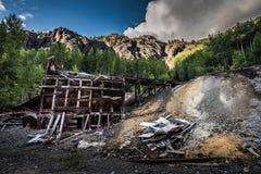 Υπόλοιπο του παλαιού μονάρχη Κολοράντο ΗΠΑ Μ ΑΜ περιοχής Ouray ορυχείου Στοκ Φωτογραφίες