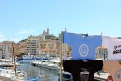 Υπόστεγο της Προβηγκίας d'Azur, παλαιός λιμένας της Γαλλίας - της Μασσαλίας Στοκ φωτογραφία με δικαίωμα ελεύθερης χρήσης