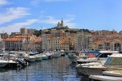 Υπόστεγο της Προβηγκίας d'Azur, παλαιός λιμένας της Γαλλίας - της Μασσαλίας Στοκ εικόνα με δικαίωμα ελεύθερης χρήσης