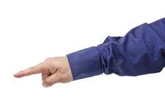 υπόδειξη δάχτυλων Στοκ Φωτογραφίες