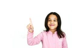 υπόδειξη κοριτσιών Στοκ Φωτογραφίες