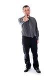υπόδειξη σας Άτομο στο πουκάμισο και το δεσμό Στοκ εικόνα με δικαίωμα ελεύθερης χρήσης