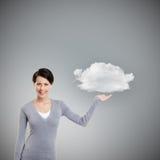 Υπόδειξη της χειρονομίας το σύννεφο στοκ φωτογραφίες
