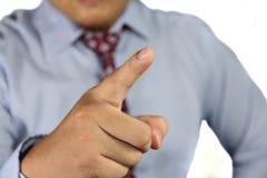 Υπόδειξη του δάχτυλου Στοκ φωτογραφία με δικαίωμα ελεύθερης χρήσης