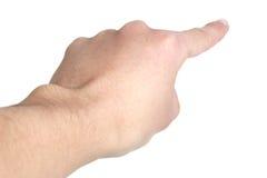 Υπόδειξη του δάχτυλου Στοκ Φωτογραφία