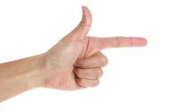 Υπόδειξη του δάχτυλου Στοκ Εικόνα