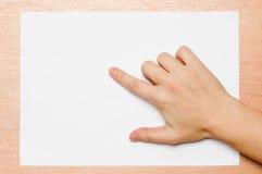 υπόδειξη χειρονομίας Στοκ εικόνα με δικαίωμα ελεύθερης χρήσης