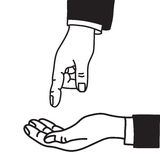 Υπόδειξη χεριών Στοκ φωτογραφία με δικαίωμα ελεύθερης χρήσης