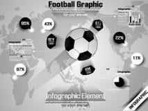 Υπόδειξη ως προς το χρόνο ποδοσφαίρου infographic Στοκ Εικόνες