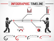 Υπόδειξη ως προς το χρόνο στοιχείων Infographic Στοκ φωτογραφίες με δικαίωμα ελεύθερης χρήσης