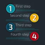 Υπόδειξη ως προς το χρόνο Infographic Πρότυπο Infographic με τα εμβλήματα eps σχεδίου 10 ανασκόπησης διάνυσμα τεχνολογίας Στοκ Φωτογραφίες