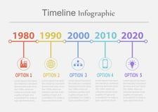 Υπόδειξη ως προς το χρόνο infographic2 Στοκ Φωτογραφία