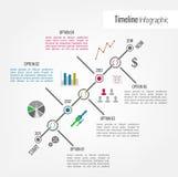 Υπόδειξη ως προς το χρόνο Infographic Στοκ εικόνα με δικαίωμα ελεύθερης χρήσης