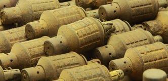 Υπόλοιπα της πολεμικής χειροβομβίδας Στοκ φωτογραφίες με δικαίωμα ελεύθερης χρήσης