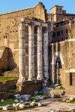Υπόλοιπα του φόρουμ του Augustus στη Ρώμη στοκ εικόνα με δικαίωμα ελεύθερης χρήσης