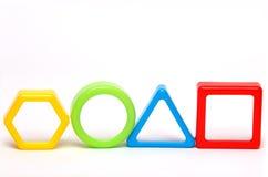 Τέσσερις χρωματισμένες γεωμετρικές μορφές Στοκ Εικόνα