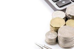 Υπόλοιπος κόσμος της αυστραλιανής έννοιας χρηματοδότησης νομίσματος νομισμάτων στο άσπρο backgr Στοκ εικόνα με δικαίωμα ελεύθερης χρήσης