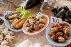 Υπόλοιπος κόσμος των θαλασσινών στην ασιατική αγορά Στοκ εικόνες με δικαίωμα ελεύθερης χρήσης