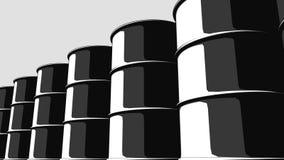 Υπόλοιπος κόσμος των μαύρων βαρελιών πετρελαίου Έκδοση κινούμενων σχεδίων για τις παρουσιάσεις και τις εκθέσεις 4K άνευ ραφής loo ελεύθερη απεικόνιση δικαιώματος