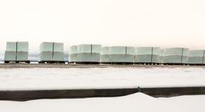 Υπόλοιπος κόσμος των μεγάλων κύβων πάγου Στοκ εικόνες με δικαίωμα ελεύθερης χρήσης