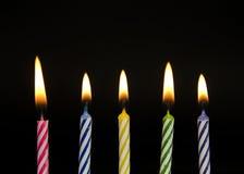 Υπόλοιπος κόσμος των ριγωτών κεριών γενεθλίων Στοκ φωτογραφία με δικαίωμα ελεύθερης χρήσης
