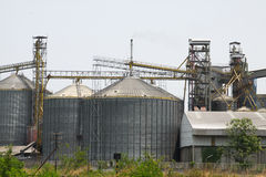 Υπόλοιπος κόσμος των σιτοβολώνων για την αποθήκευση του σίτου και άλλων σιταριών δημητριακών, του γεωργικού σιλό και της κρατημέν Στοκ εικόνες με δικαίωμα ελεύθερης χρήσης