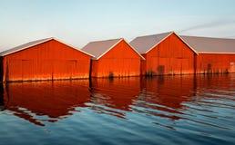 Υπόλοιπος κόσμος των boathouses Στοκ εικόνες με δικαίωμα ελεύθερης χρήσης
