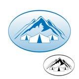 Υπόλοιπο λογότυπων στα βουνά Στοκ φωτογραφία με δικαίωμα ελεύθερης χρήσης