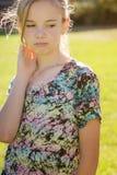 δυστυχισμένες νεολαίες κοριτσιών Στοκ Φωτογραφίες